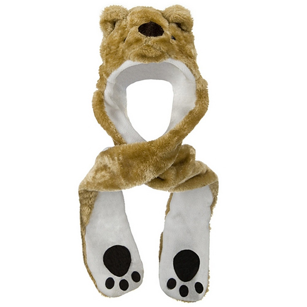 ML Animal Costume Hat with Mittens - Bear Dk. Khaki - Hats and Caps Online Shop - Hip Head Gear