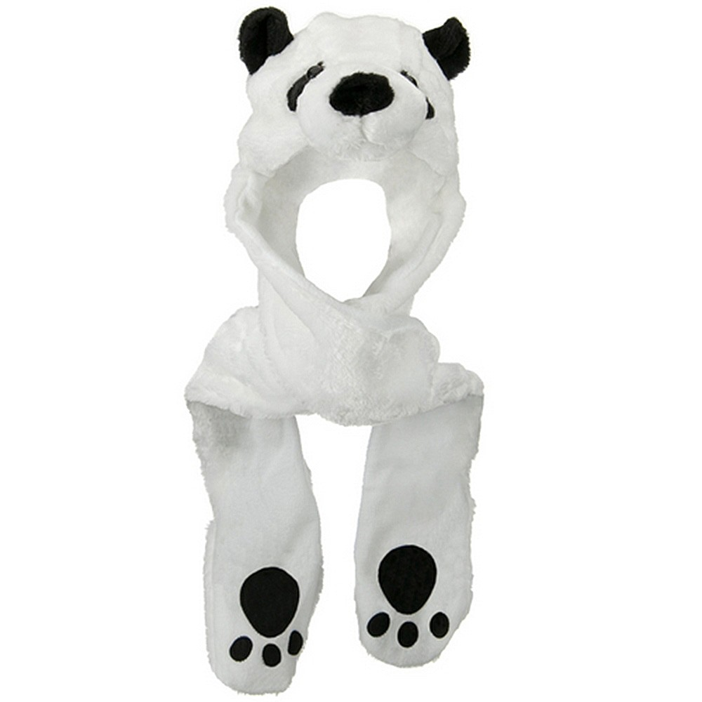ML Animal Costume Hat with Mittens - Panda White - Hats and Caps Online Shop - Hip Head Gear