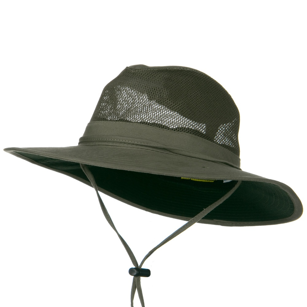 SPF 50+ Mesh Safari Hat-Olive - Hats and Caps Online Shop - Hip Head Gear