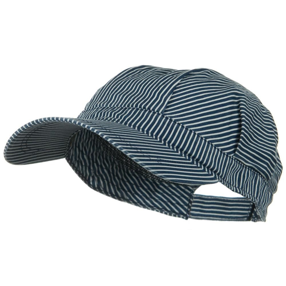 Big Size Conductor's Cap - Blue White - Hats and Caps Online Shop - Hip Head Gear