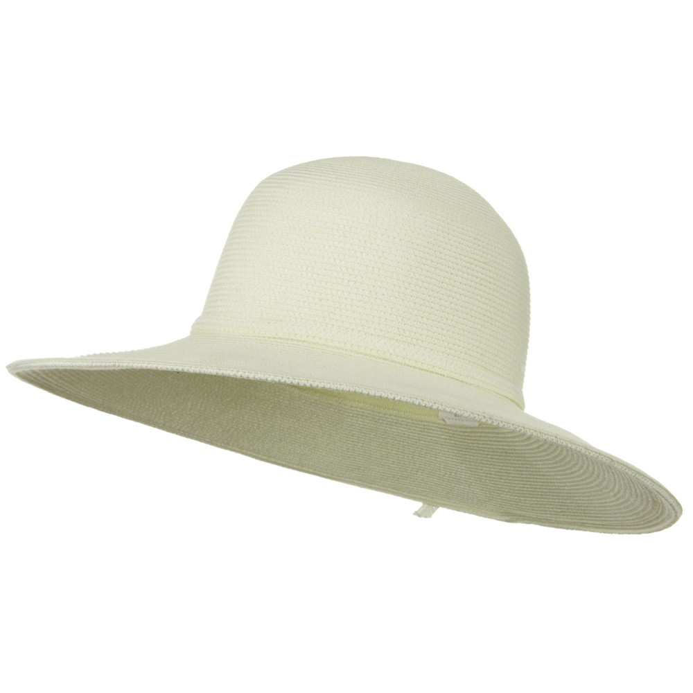 UPF 50+ Cotton Paper Braid 4 Inch Flat Brim Hat - Ivory - Hats and Caps Online Shop - Hip Head Gear