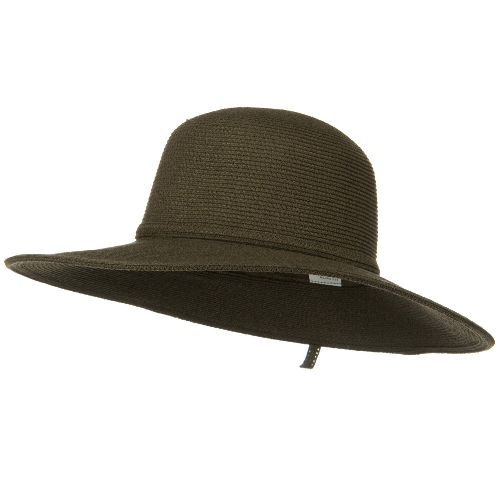 UPF 50+ Cotton Paper Braid 4 Inch Flat Brim Hat - Brown Moss - Hats and Caps Online Shop - Hip Head Gear
