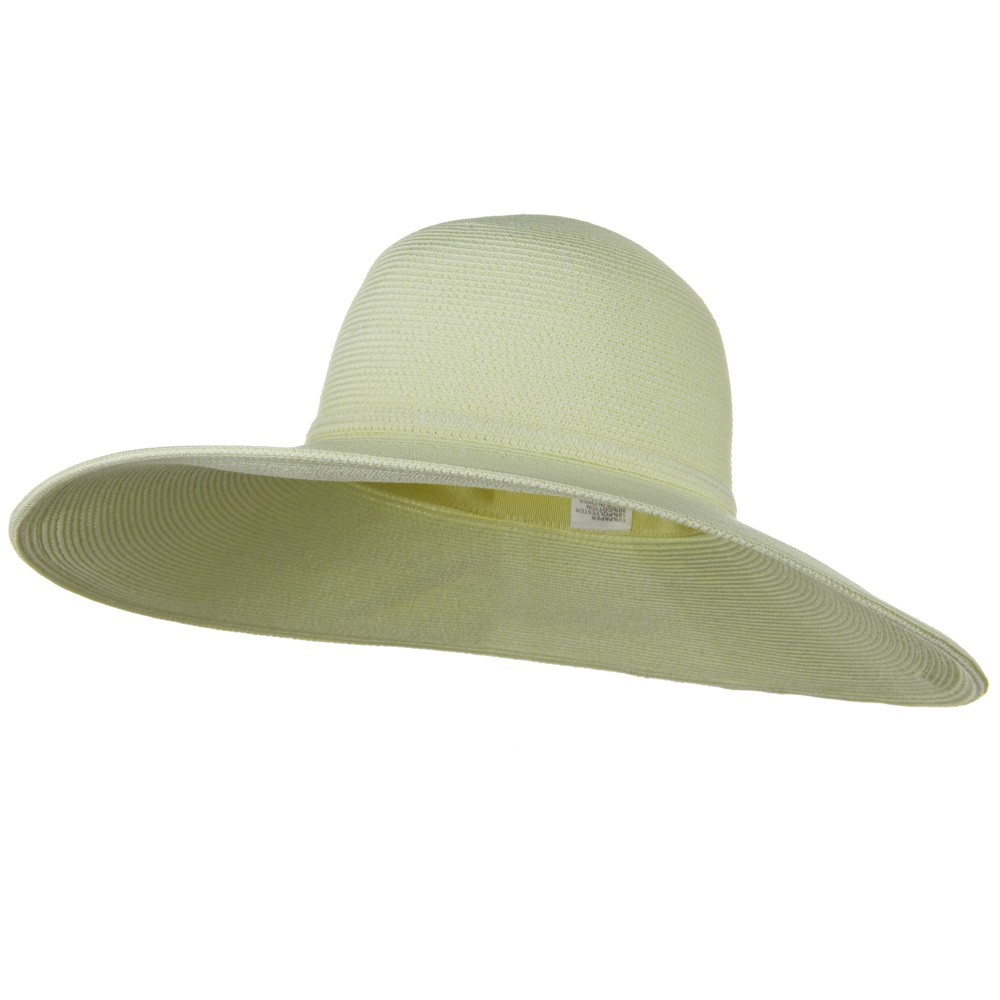UPF 50+ Cotton Paper Braid 5 inch Brim Self Tie Hat - Ivory