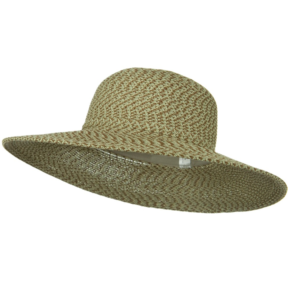 UPF 50+ 3 Tone Braid 4 inch Brim Self Tie Hat - Taupe Blend - Hats and Caps Online Shop - Hip Head Gear