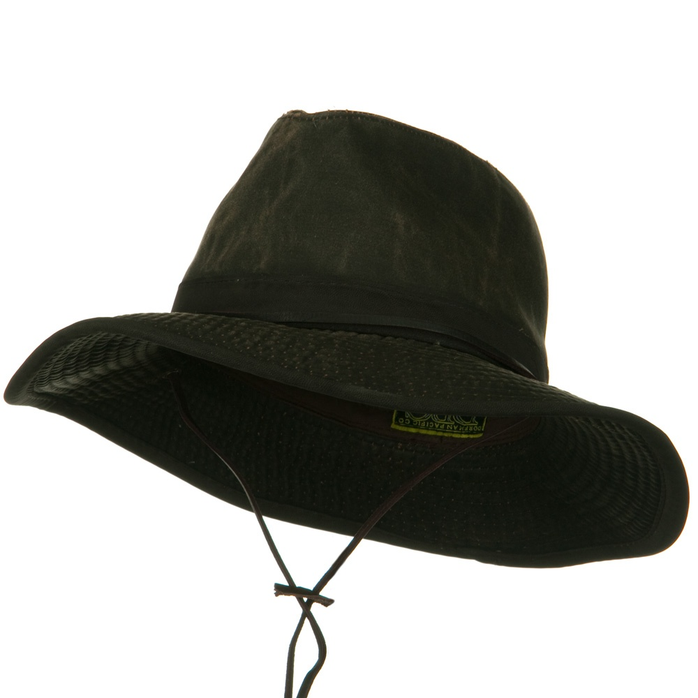 UPF 50+ Weathered Cotton Safari Hat - Brown - Hats and Caps Online Shop - Hip Head Gear