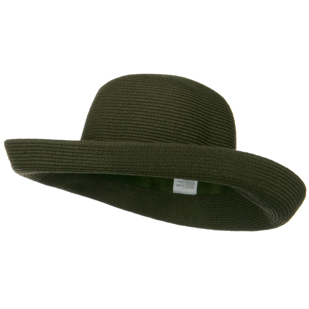 UPF 50+ Cotton Paper Braid Large Kettle Brim Hat - Brown Moss - Hats and Caps Online Shop - Hip Head Gear