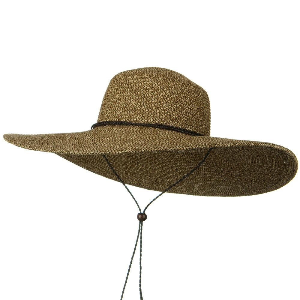 5 1/2 Inches Wide Brim Tweed Straw Hat - Natural Brown - Hats and Caps Online Shop - Hip Head Gear