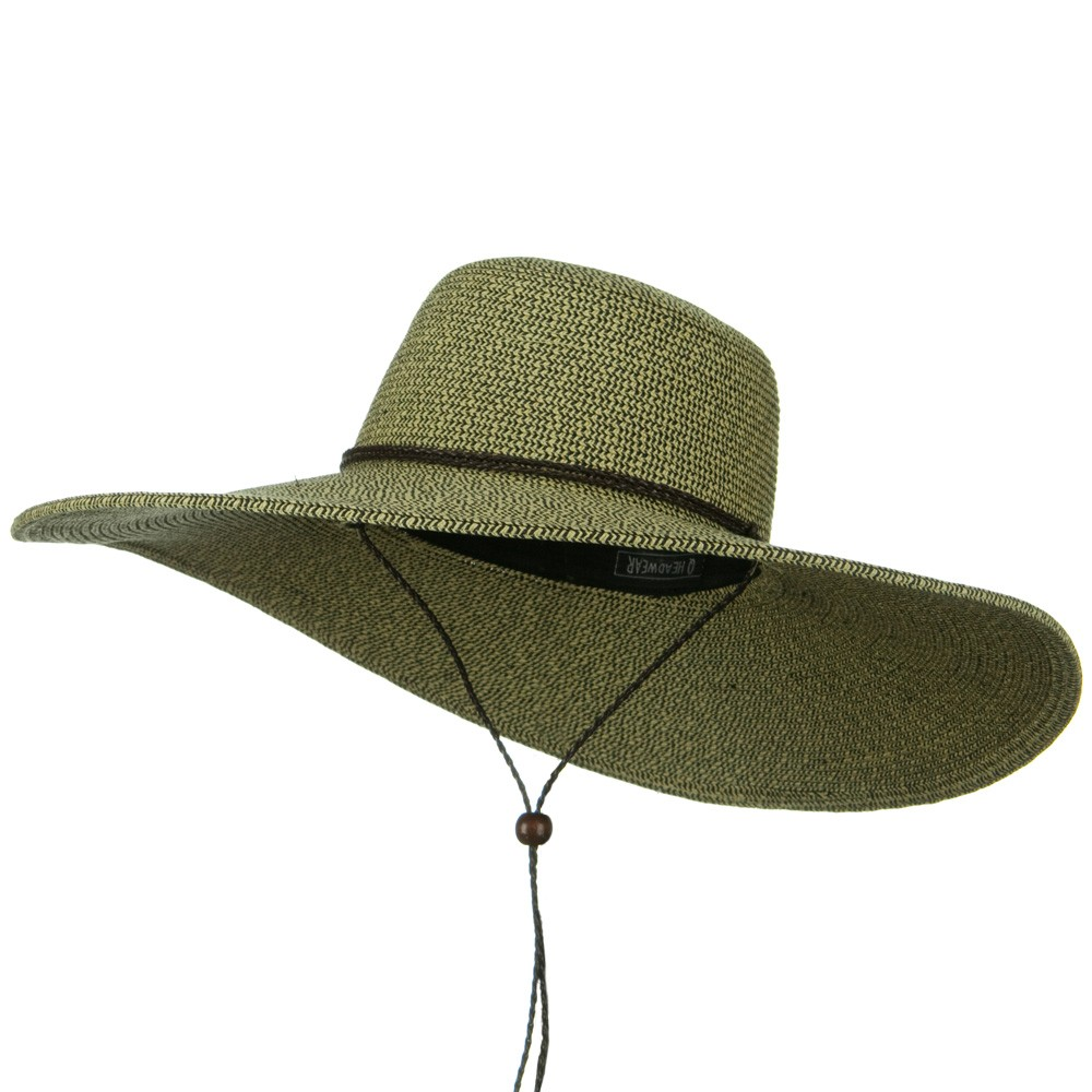 5 1/2 Inches Wide Brim Tweed Straw Hat - Natural Black - Hats and Caps Online Shop - Hip Head Gear