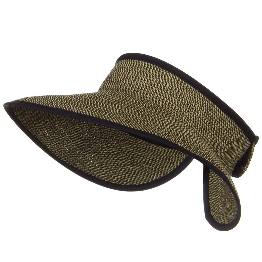 UPF 50+ Bow Tie Tweed Roll Up Visor - Black Tweed - Hats and Caps Online Shop - Hip Head Gear