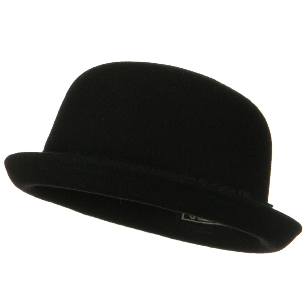 Wool Felt Derby Hat - Black Mini - Hats and Caps Online Shop - Hip Head Gear