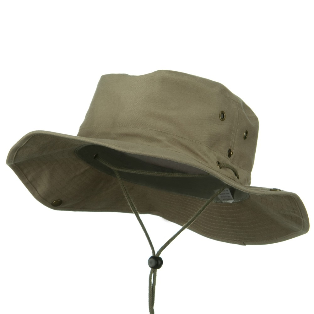 Extra Big Size Brushed Twill Aussie Hats-Khaki - Hats and Caps Online Shop - Hip Head Gear