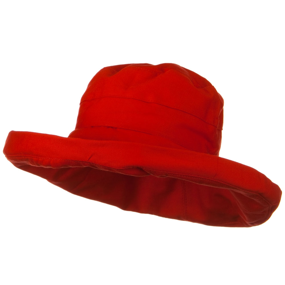 UPF 50+ Canvas Large Brim Self Tie Hat - Red - Hats and Caps Online Shop - Hip Head Gear