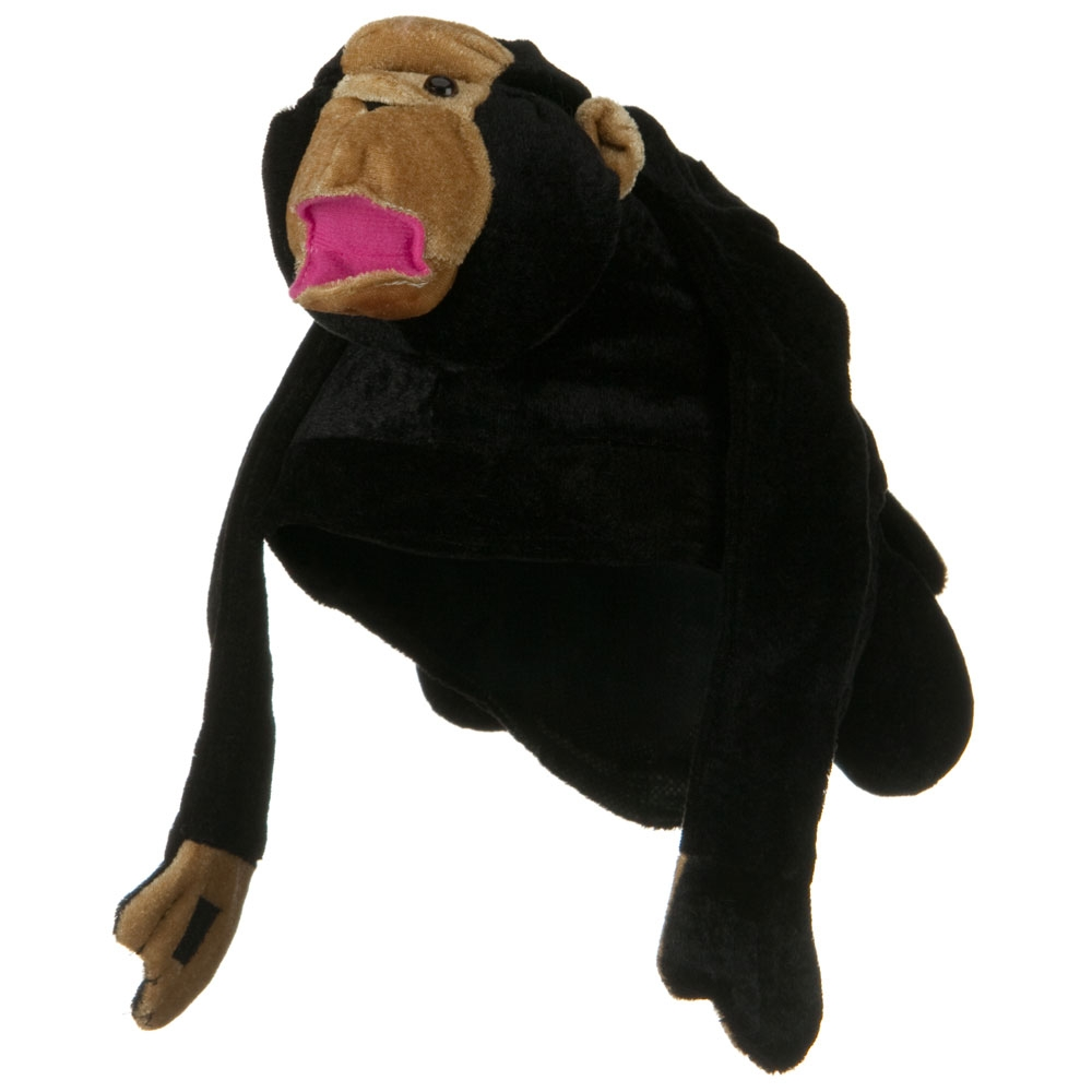 Monkey Novelty Hat - Black Khaki