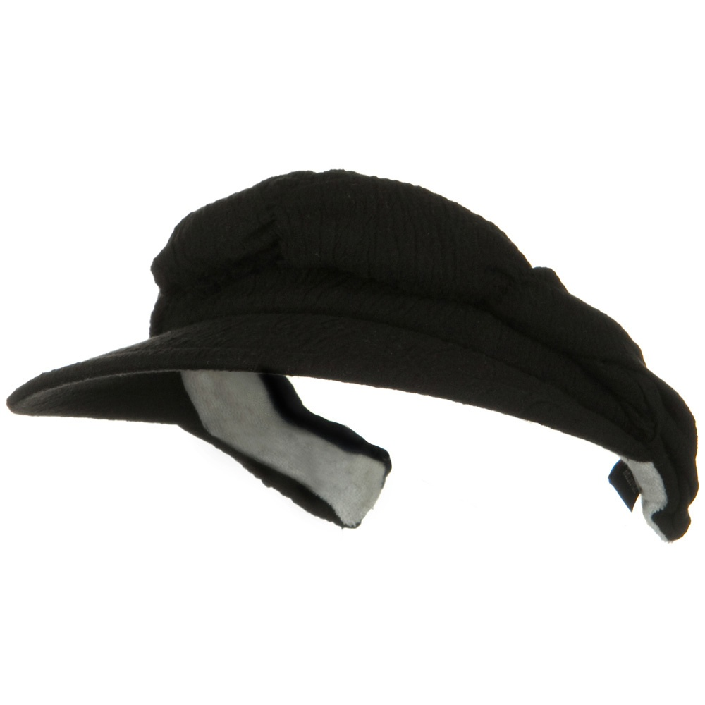 Cotton Convertible Clip On Visor - Black - Hats and Caps Online Shop - Hip Head Gear