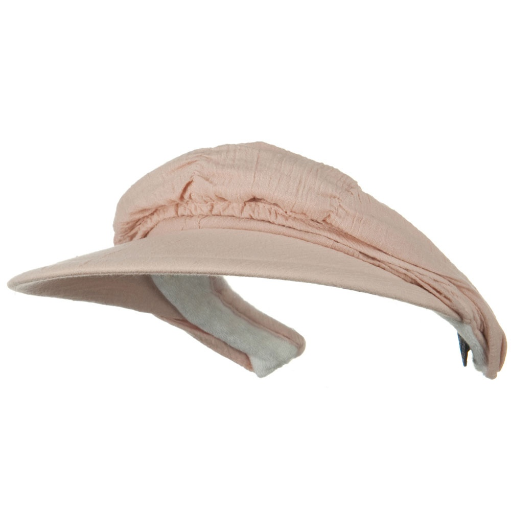 Cotton Convertible Clip On Visor - Peach - Hats and Caps Online Shop - Hip Head Gear
