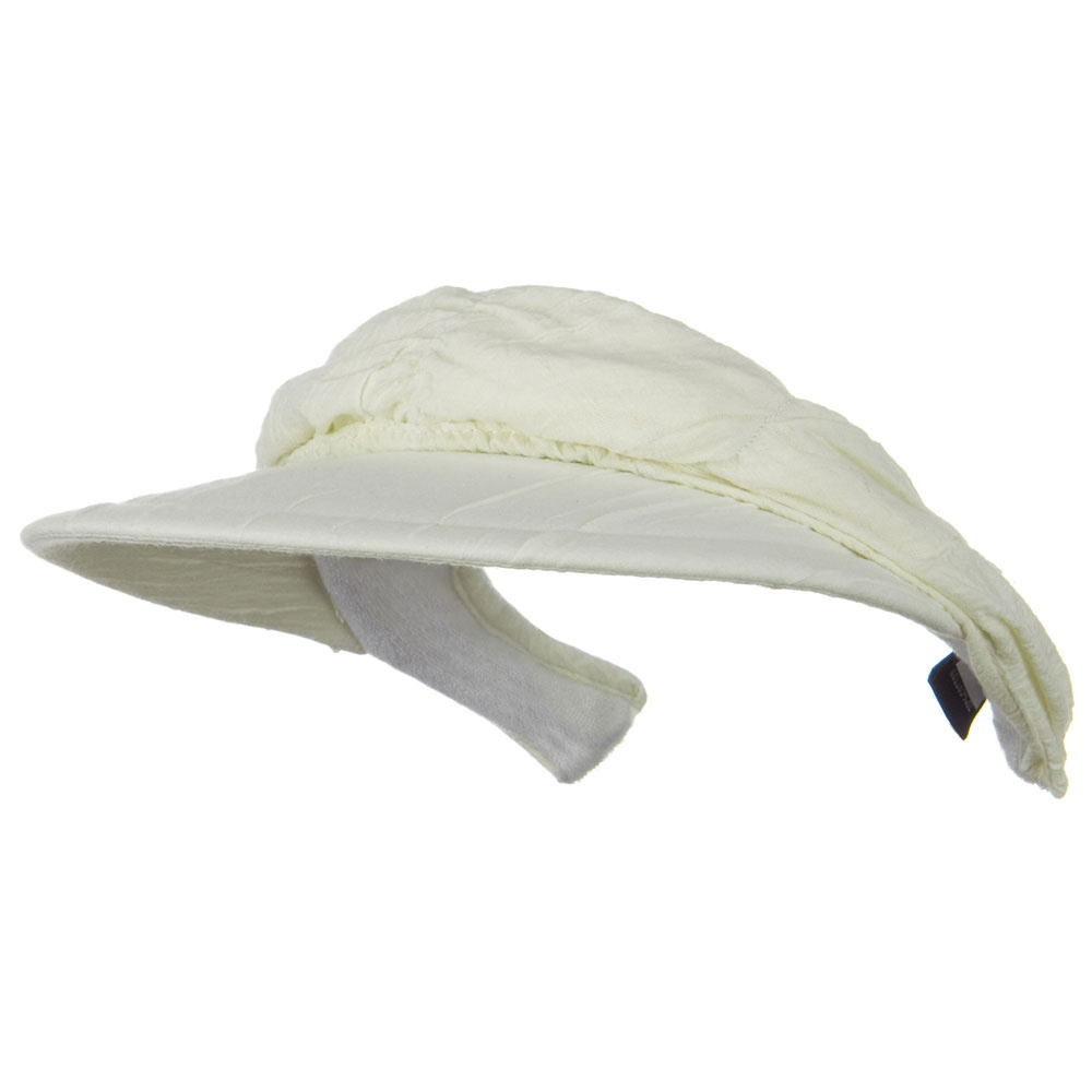 Cotton Convertible Clip On Visor - White - Hats and Caps Online Shop - Hip Head Gear