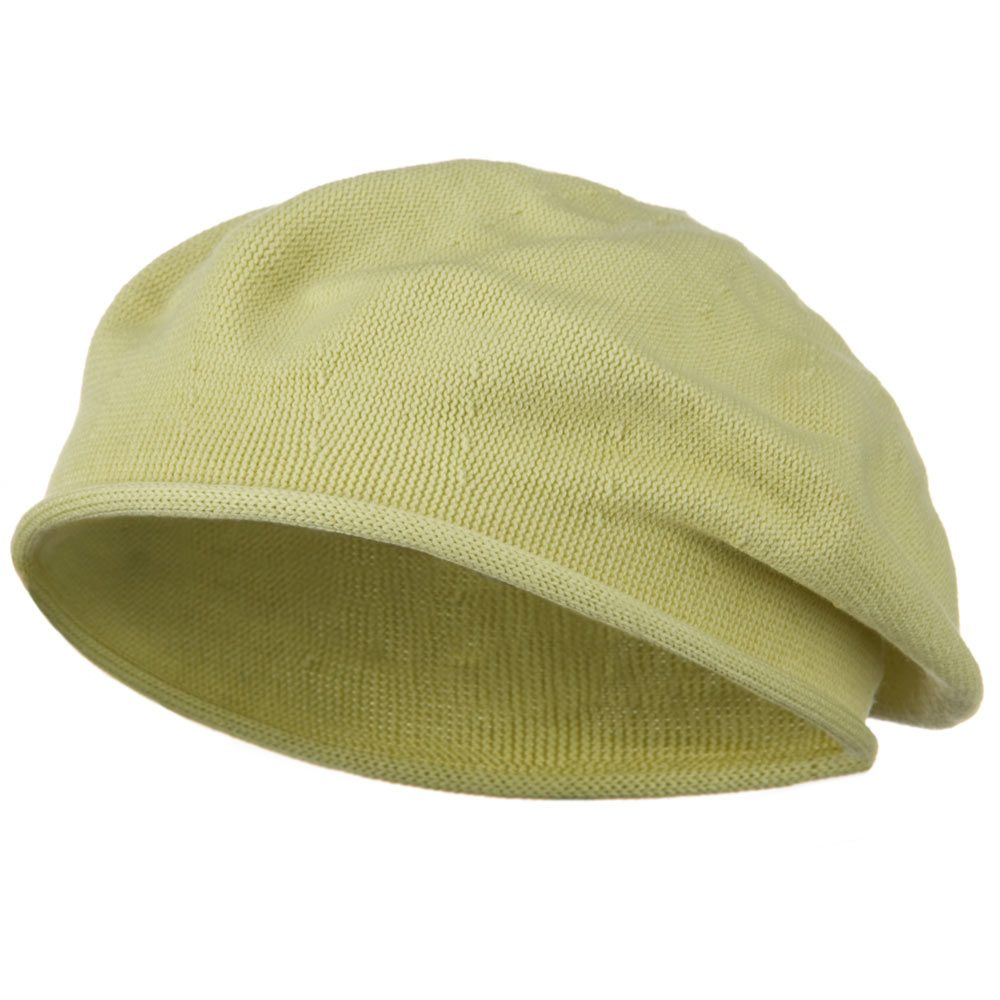 Toddler Rolled Brim Cotton Beret - Cream - Hats and Caps Online Shop - Hip Head Gear