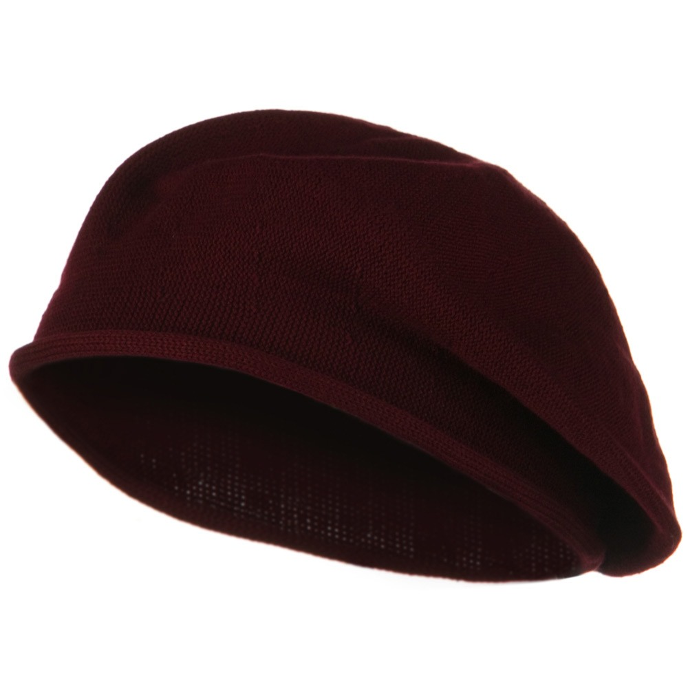 Toddler Rolled Brim Cotton Beret - Cranberry - Hats and Caps Online Shop - Hip Head Gear