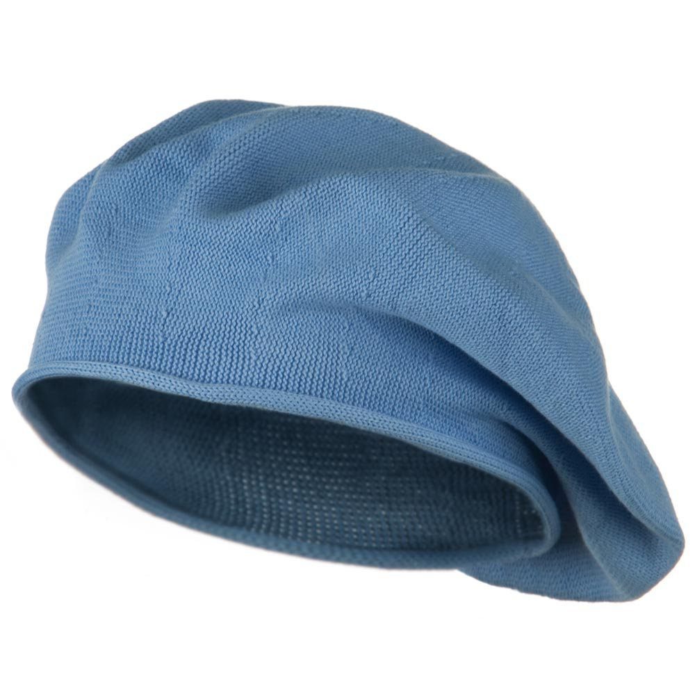 Toddler Rolled Brim Cotton Beret - Blue - Hats and Caps Online Shop - Hip Head Gear