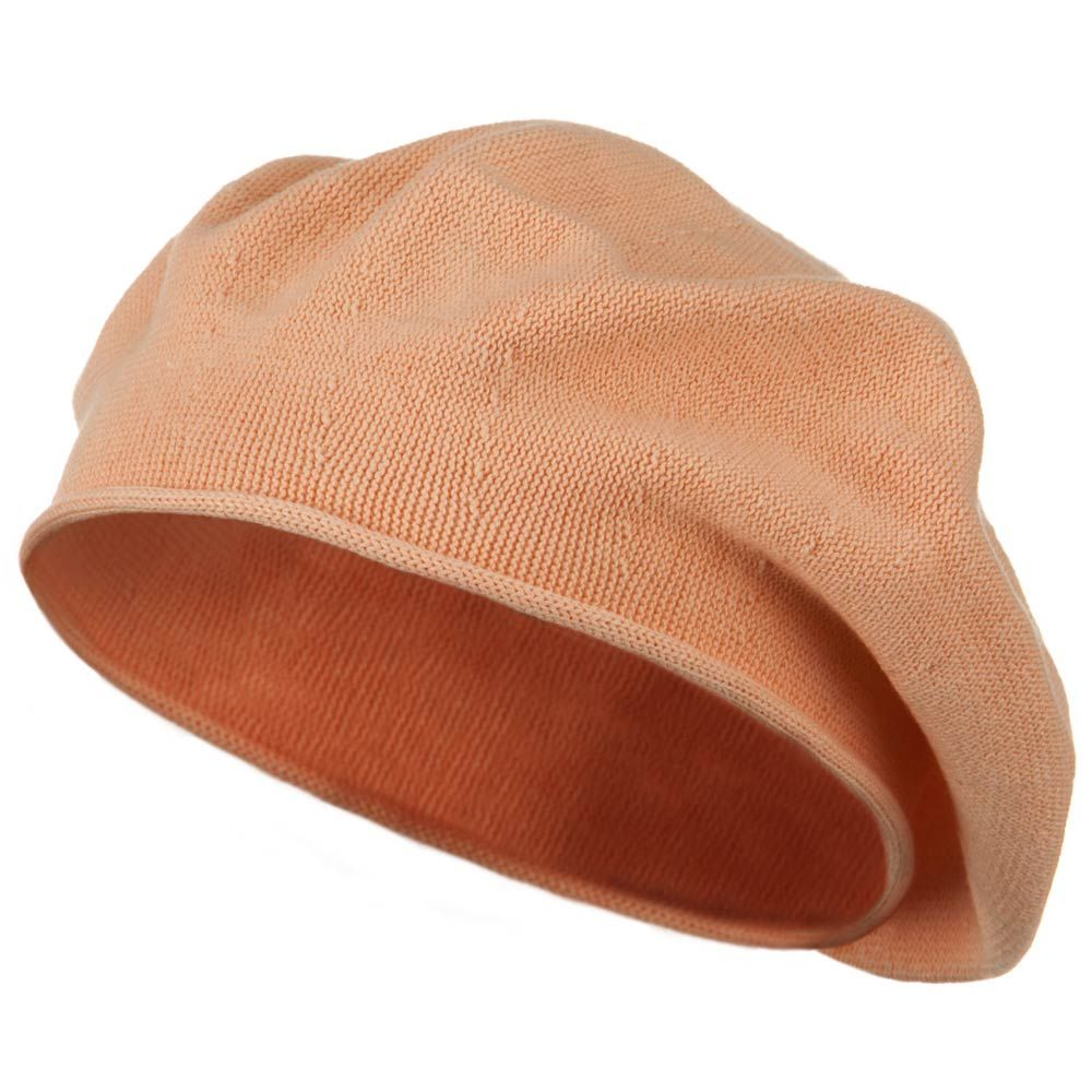 Toddler Rolled Brim Cotton Beret - Peach - Hats and Caps Online Shop - Hip Head Gear
