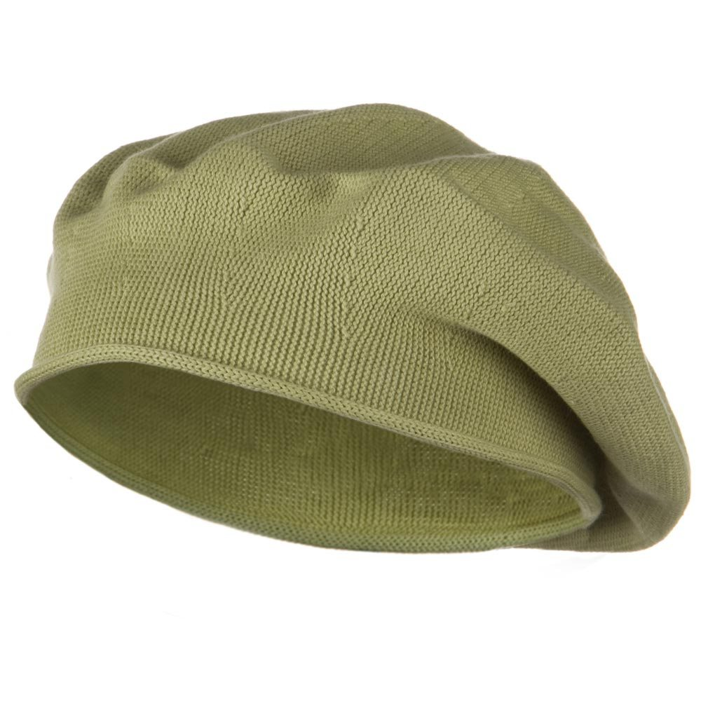 Toddler Rolled Brim Cotton Beret - Sage - Hats and Caps Online Shop - Hip Head Gear