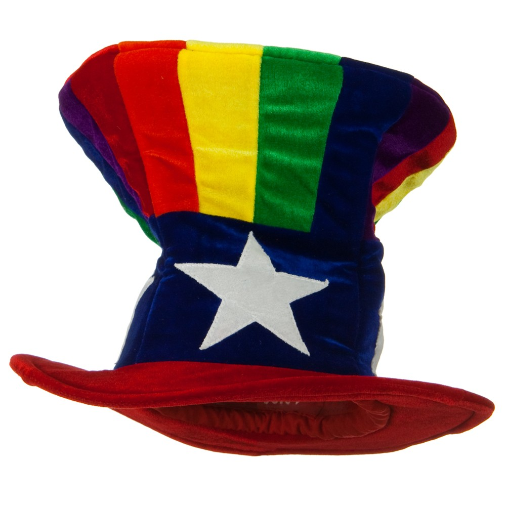 Uncle Sam Top Hat - Rainbow - Hats and Caps Online Shop - Hip Head Gear