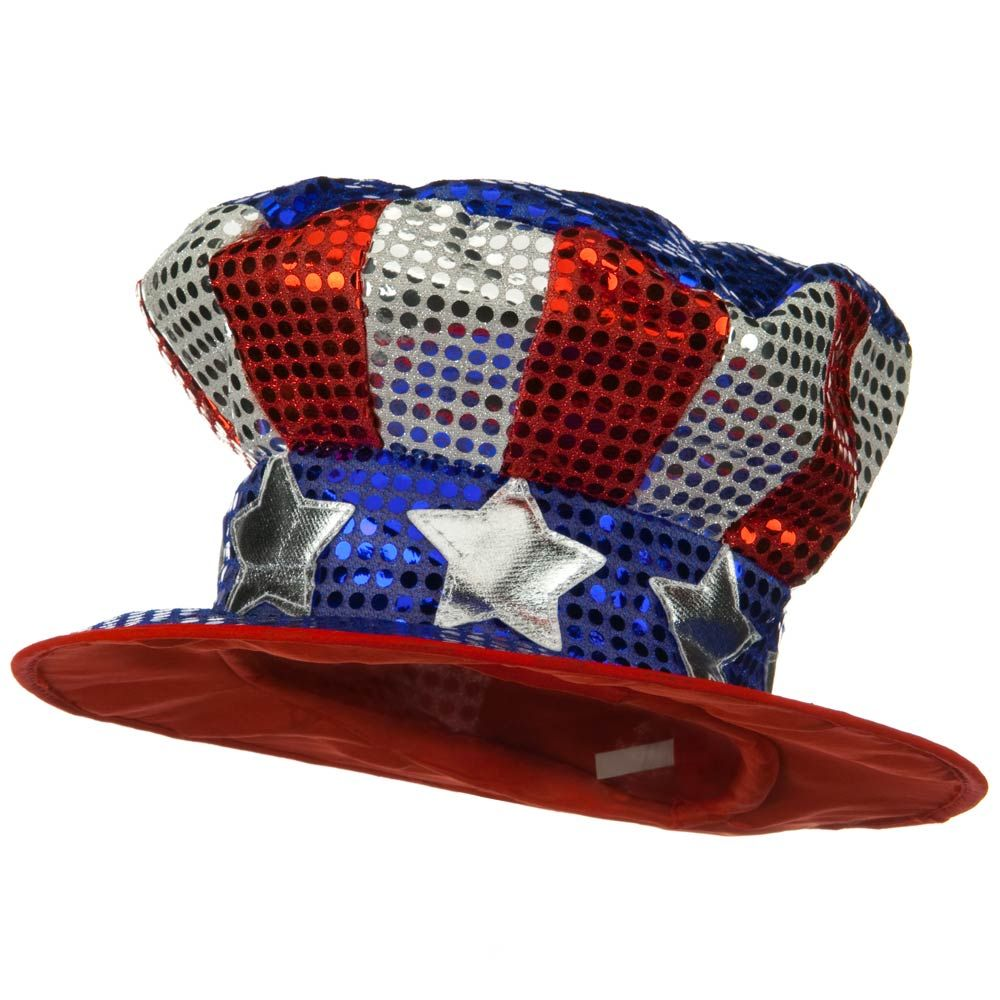 Uncle Sam Top Hat - Glitter - Hats and Caps Online Shop - Hip Head Gear