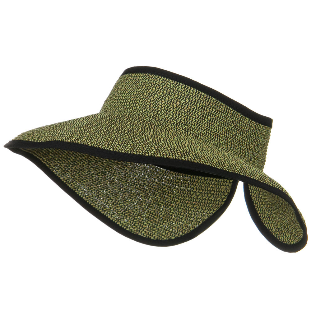 UPF50+ Tweed Roll Up Visor - Black Tan - Hats and Caps Online Shop - Hip Head Gear