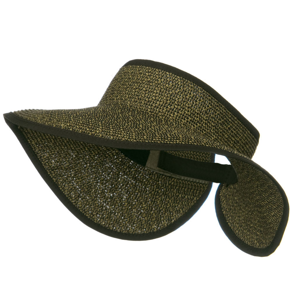 UPF50+ Tweed Roll Up Visor - Brown Black - Hats and Caps Online Shop - Hip Head Gear