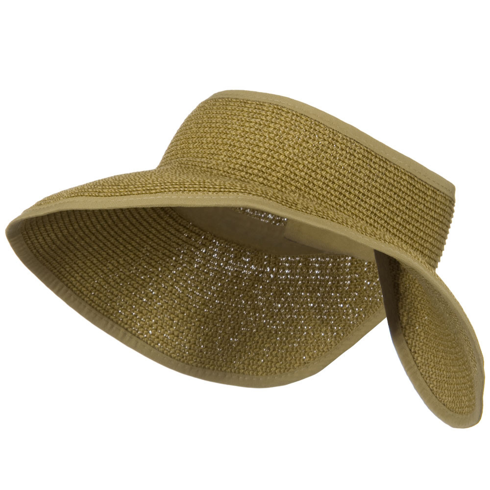UPF50+ Tweed Roll Up Visor - Toast Tweed - Hats and Caps Online Shop - Hip Head Gear