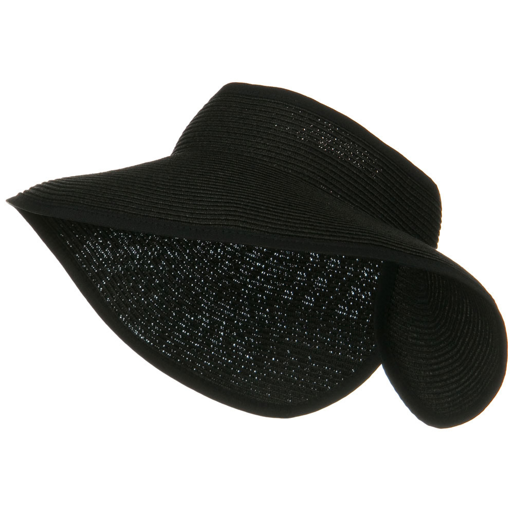 UPF50+ Tweed Roll Up Visor - Black - Hats and Caps Online Shop - Hip Head Gear