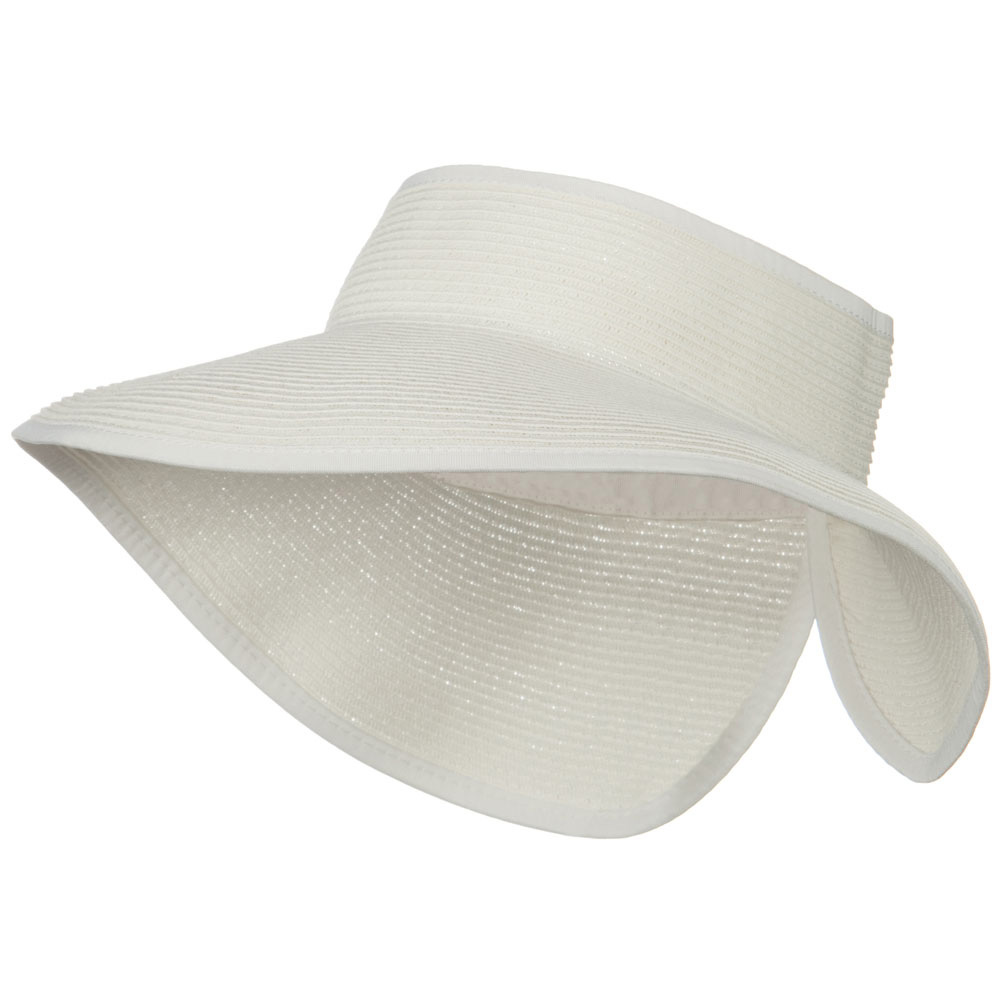 UPF50+ Tweed Roll Up Visor - White - Hats and Caps Online Shop - Hip Head Gear