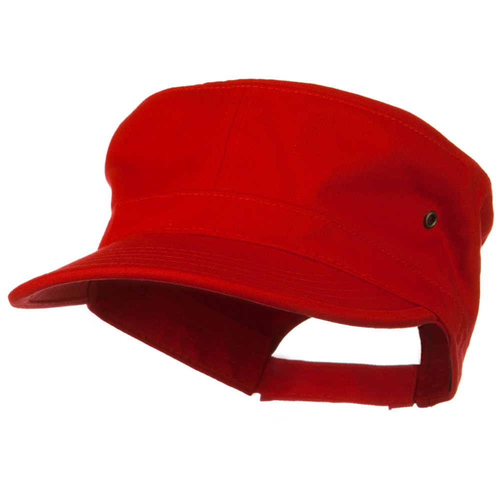 Adjustable Trendy Army Style Cap - Red - Hats and Caps Online Shop - Hip Head Gear