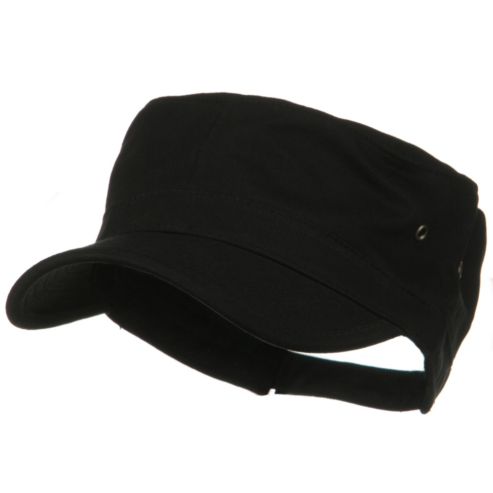 Adjustable Trendy Army Style Cap - Black - Hats and Caps Online Shop - Hip Head Gear