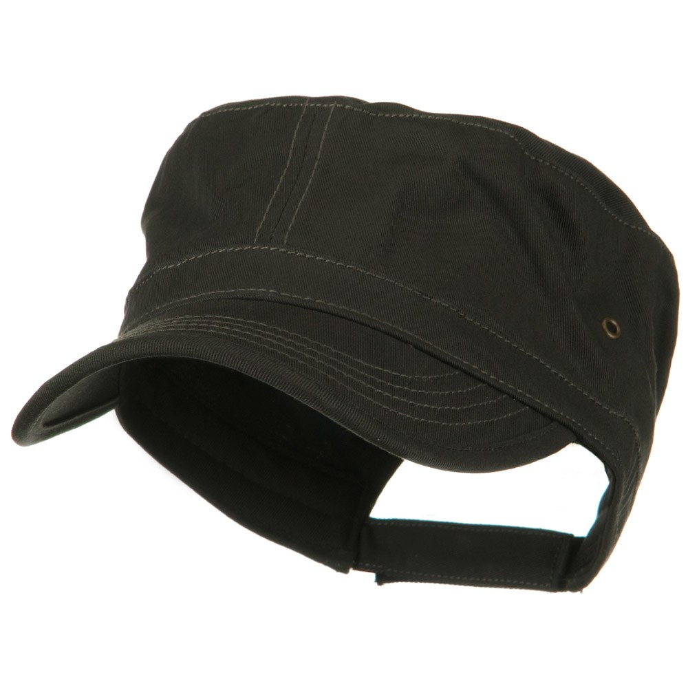 Adjustable Trendy Army Style Cap - Charcoal - Hats and Caps Online Shop - Hip Head Gear