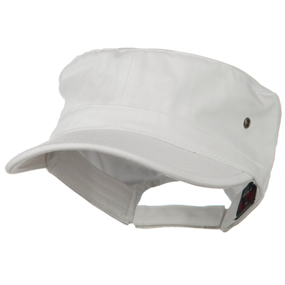 Adjustable Trendy Army Style Cap - White - Hats and Caps Online Shop - Hip Head Gear