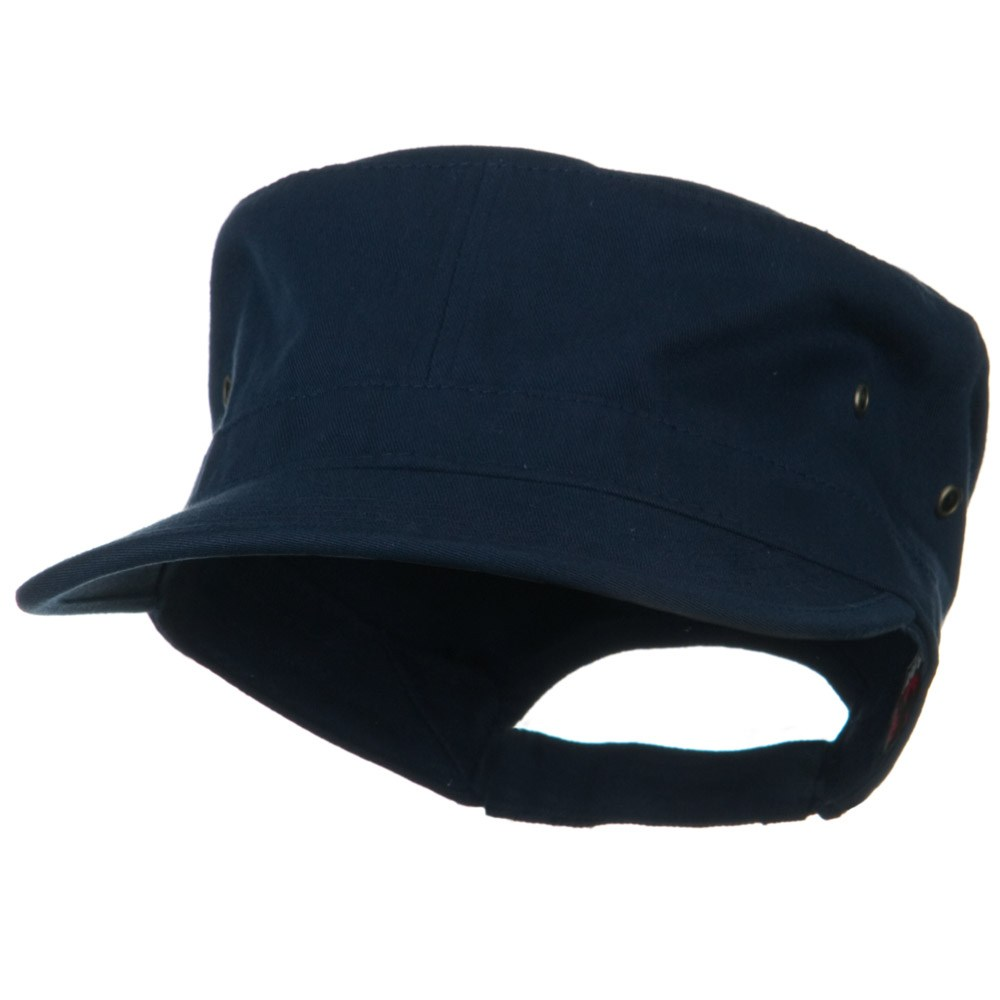 Adjustable Trendy Army Style Cap - Navy - Hats and Caps Online Shop - Hip Head Gear