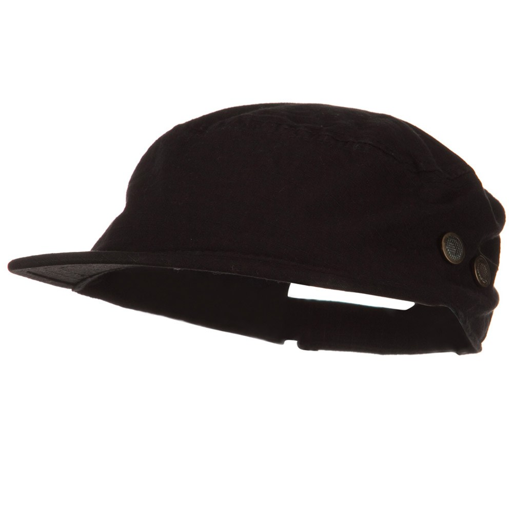 Rip Stock Hex Billed Military Cap - Black - Hats and Caps Online Shop - Hip Head Gear