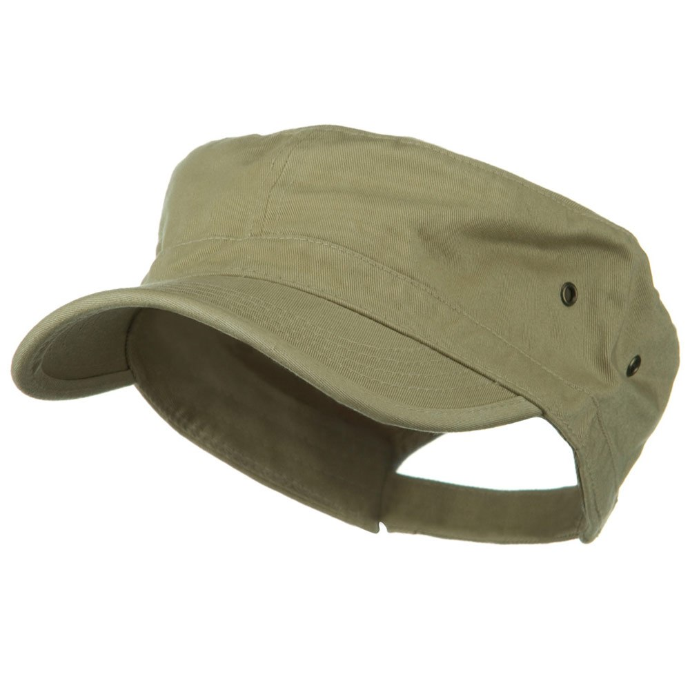 Washed Military Hat-Khaki - Hats and Caps Online Shop - Hip Head Gear