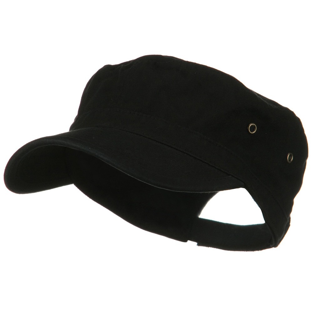 Washed Military Hat-Black - Hats and Caps Online Shop - Hip Head Gear