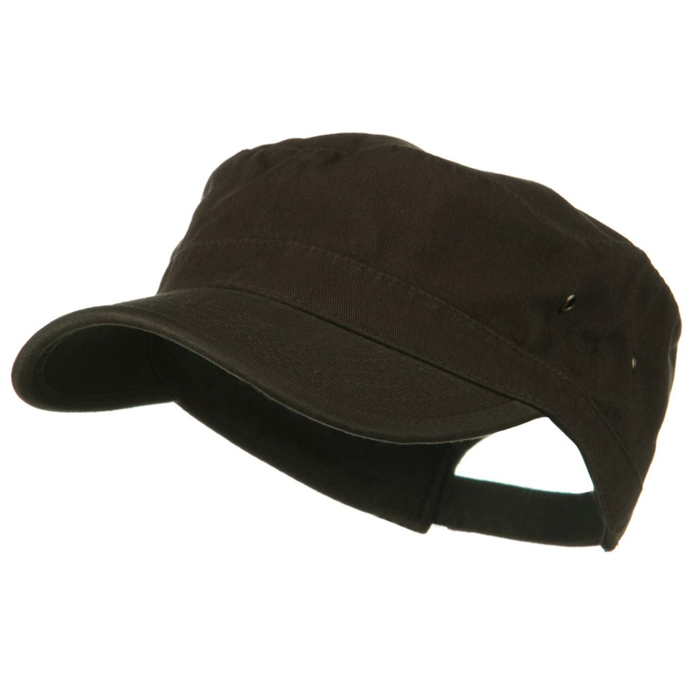 Washed Military Hat-Brown - Hats and Caps Online Shop - Hip Head Gear