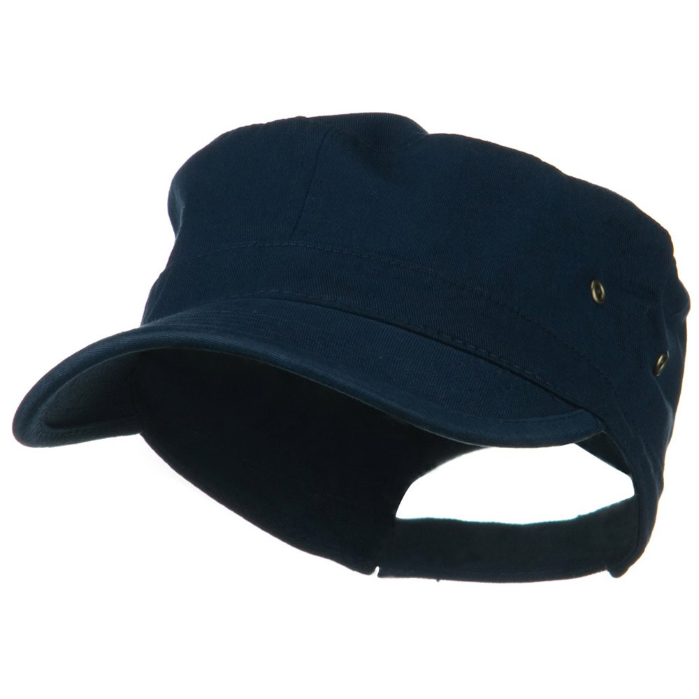 Washed Military Hat-Navy - Hats and Caps Online Shop - Hip Head Gear