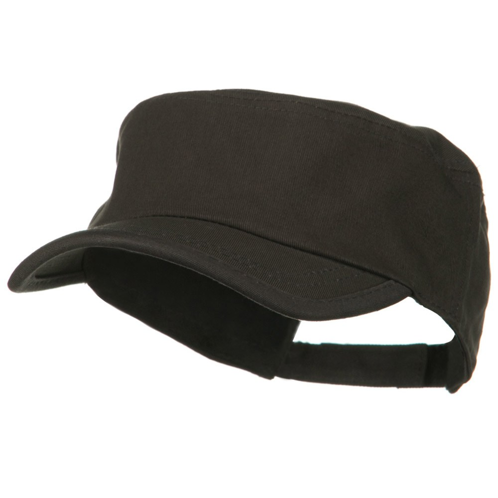 Imprintable Military Cap - Charcoal - Hats and Caps Online Shop - Hip Head Gear