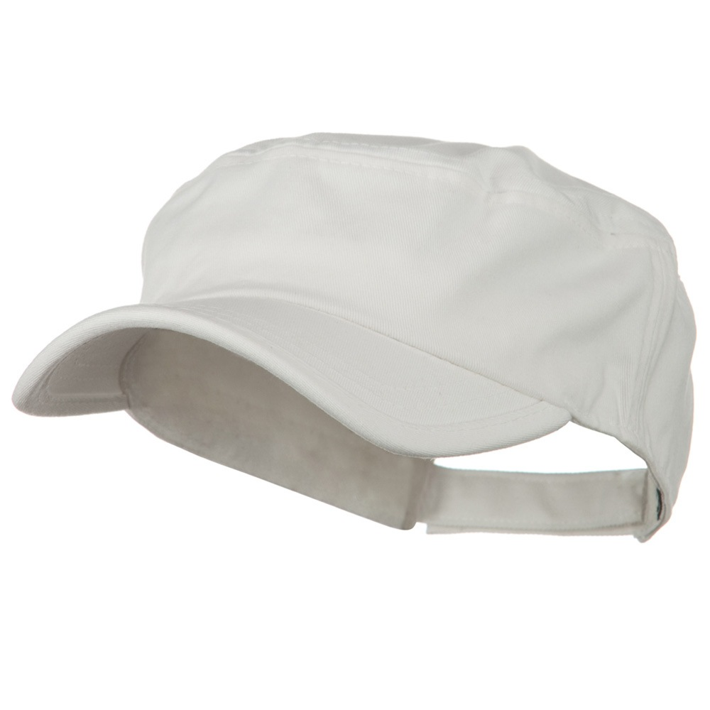 Imprintable Military Cap - White - Hats and Caps Online Shop - Hip Head Gear