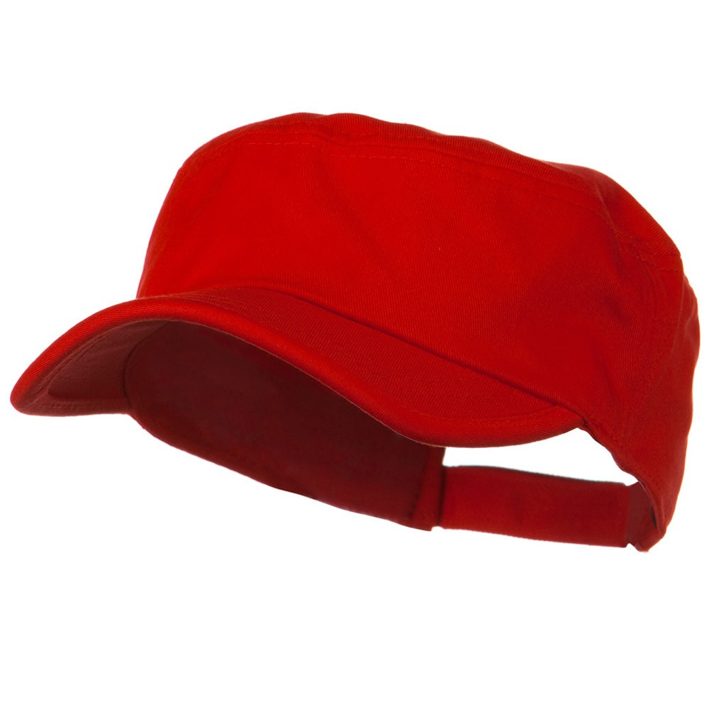 Imprintable Military Cap - Red - Hats and Caps Online Shop - Hip Head Gear