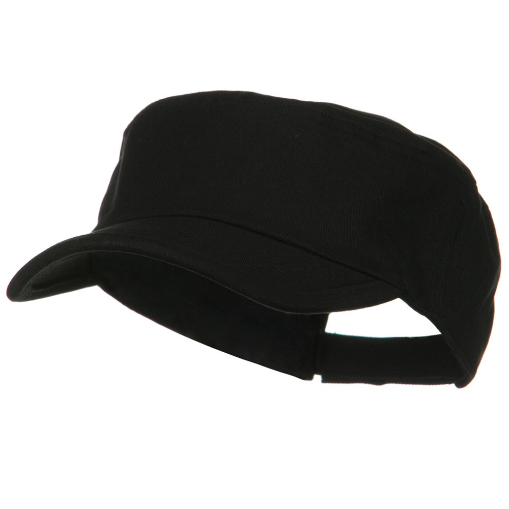 Imprintable Military Cap - Black - Hats and Caps Online Shop - Hip Head Gear