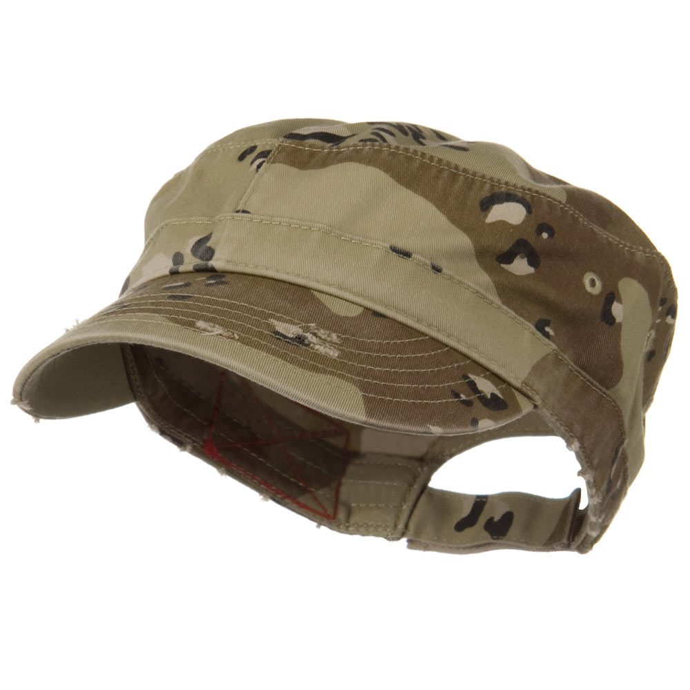 Enzyme Frayed Army Caps-Desert - Hats and Caps Online Shop - Hip Head Gear