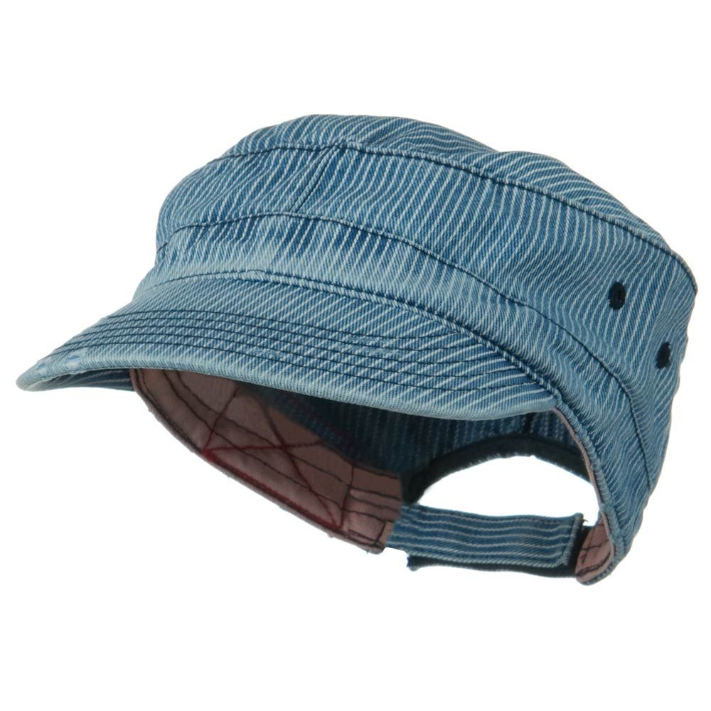 Enzyme Frayed Army Caps-Pinstripe - Hats and Caps Online Shop - Hip Head Gear