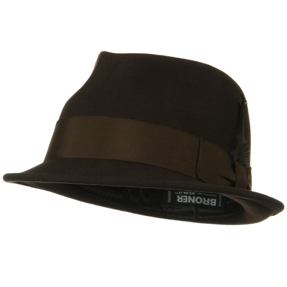Without a Doubt Felt Fedora Hat - Brown - Hats and Caps Online Shop - Hip Head Gear