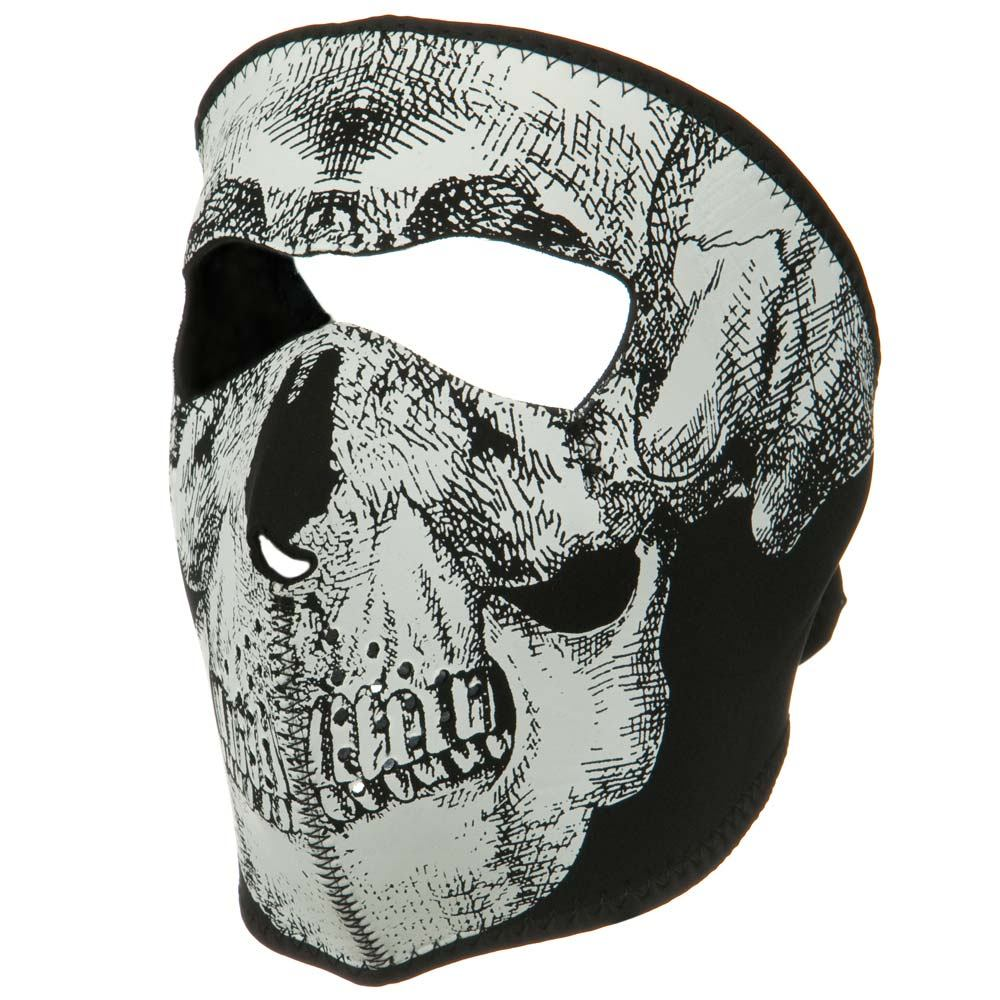 Oversized Neoprene Full Face Mask - Skull - Hats and Caps Online Shop - Hip Head Gear